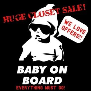 Baby On Board! Closet Clear Out!